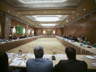 Κλειστή συνάντηση εργασίας: Άποψη από την αίθουσα διοργάνωσης της κλειστής συνάντησης εργασίας